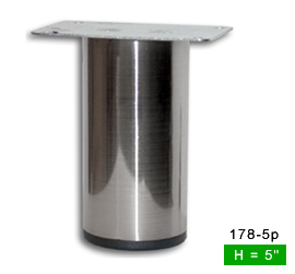 Sleek Brushed Satin Steel Straight Metal Leg 5u2033H 178 5p