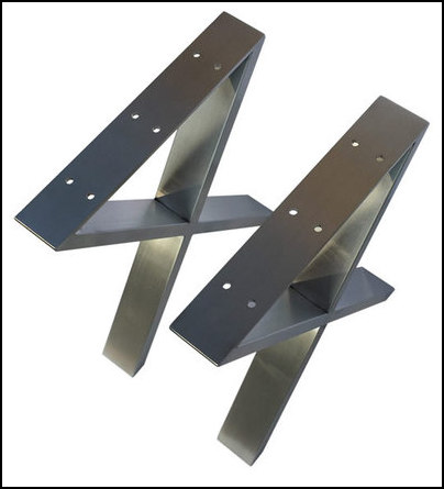 16 Modern X Furniture Leg Coffee Table Metal Legs Stainless Steel 2pc Xss