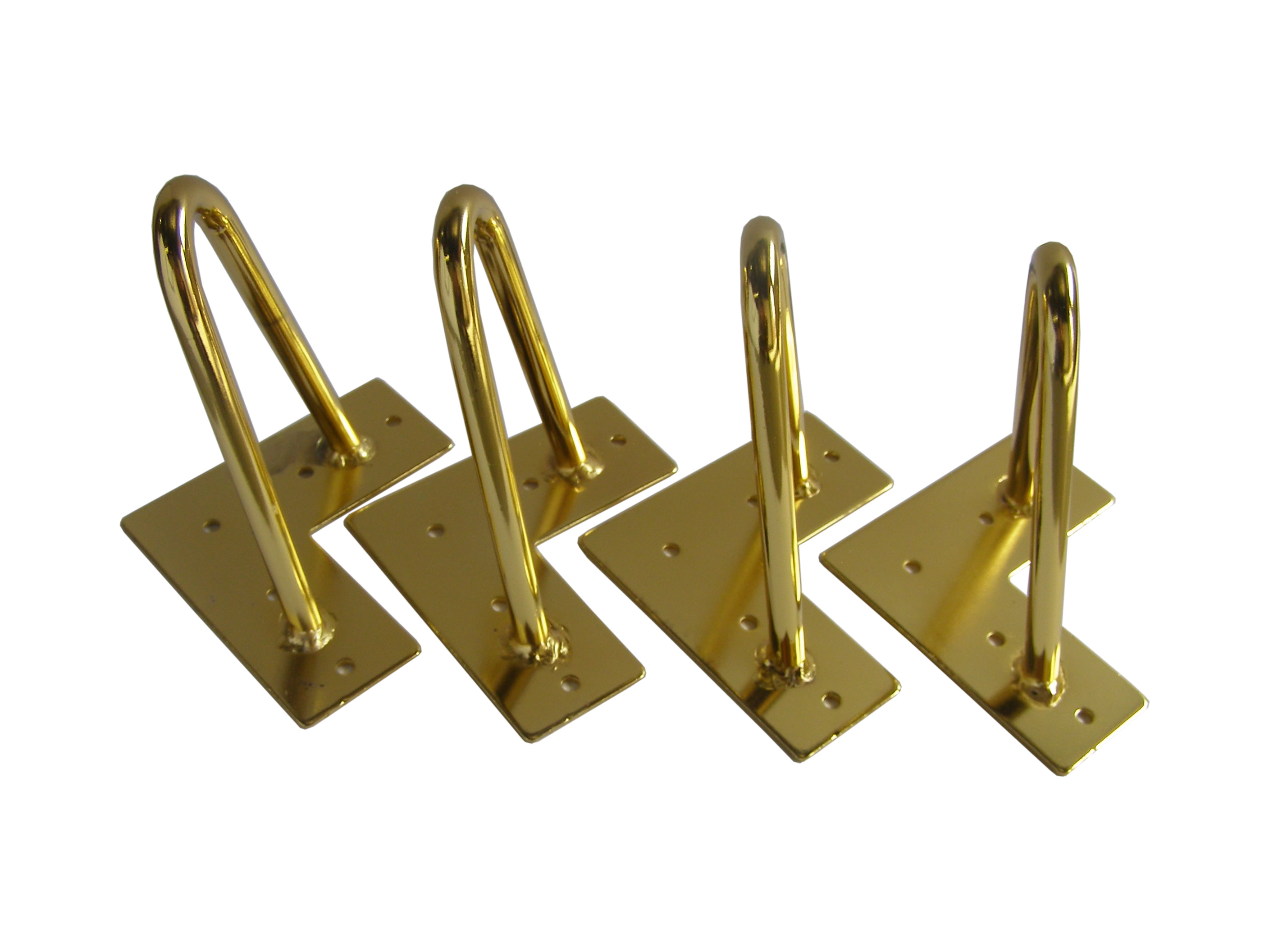 Polished Brass Hairpin Furniture Legs, Sofa Legs, Furniture Feet, 6u2033 Mid  Century Modern 4pc 606 4g