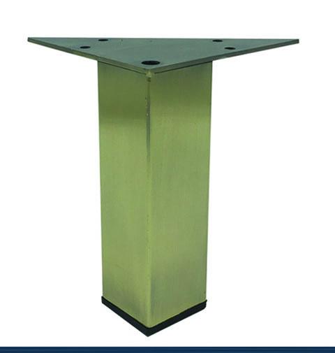 Square Metal Furniture Legs Antique Brass Finish 5 H 902 5bg