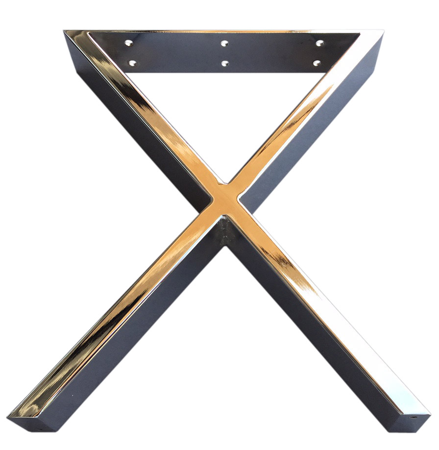 16 Modern X Furniture Legs Coffee Table Legs Metal Legs Chrome