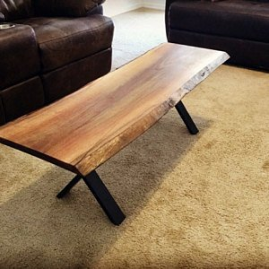"16"" Heavy Duty Modern Black X Furniture Legs, Coffee Table"