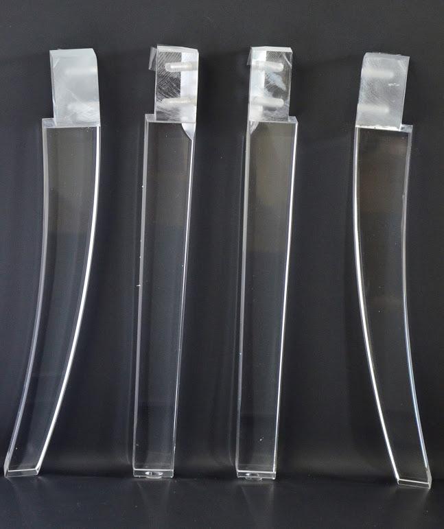 Acylic Lucite Furniture Legs For, Plexiglass Furniture Legs